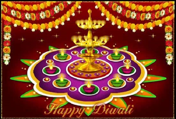 Diwali Rangoli Designs With Flowers, Patterns (Images, Pictures, Photos)
