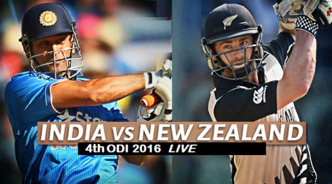 India vs New Zealand 4th ODI Live Cricket Streaming, Score Board, Videos, Highlights