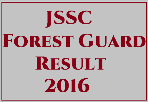 JSSC Forest Guard Mains Exam Results 2016
