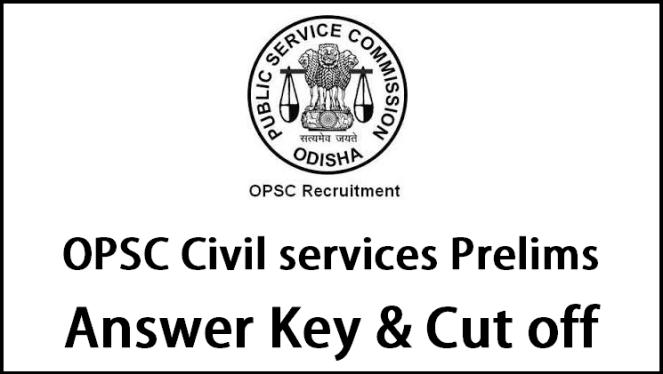 OPSC Civil Services Prelims Answer Key 2016