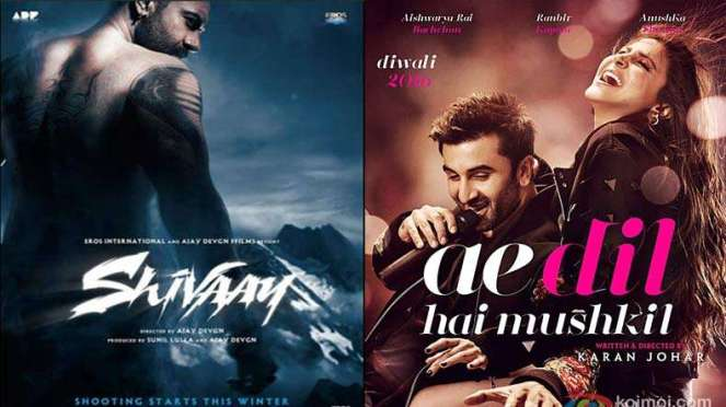 Shivaay, Ae Dil Hai Mushkil 19th Day Collection
