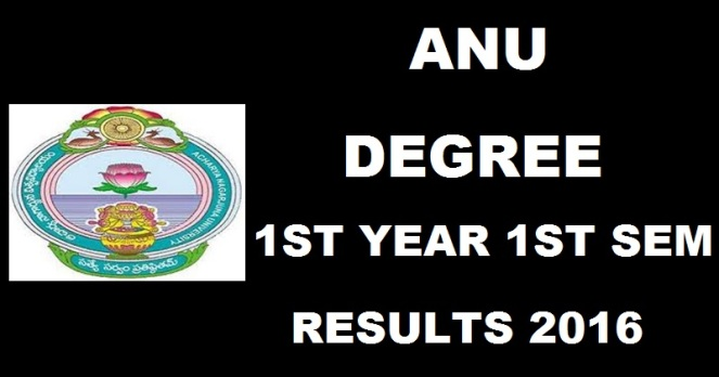 ANU Degree 1st Year 1st Sem Results