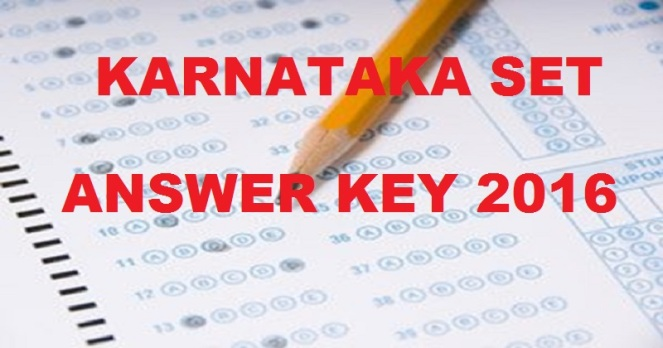 Karnataka SET Answer Key 2016