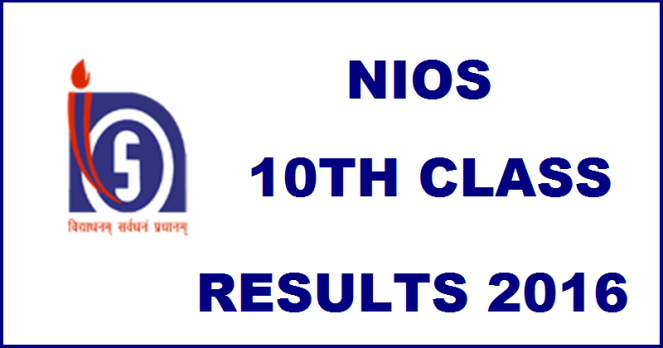 NIOS 10th Result 2016