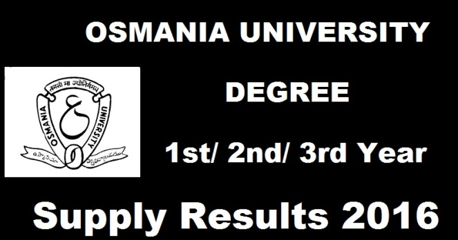 OU Degree Supply Results 2016