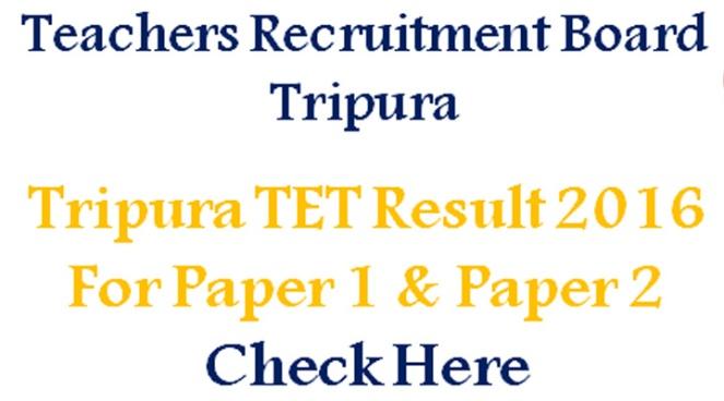 Tripura TET Result 2016