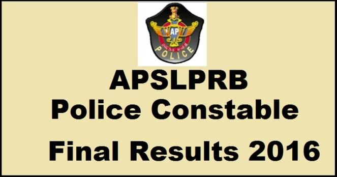 AP Police Constable Results 2017