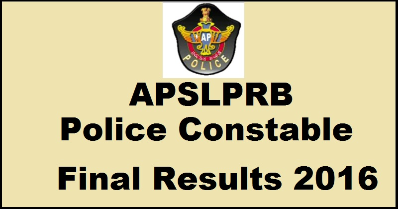 AP Police Constable Results 2017